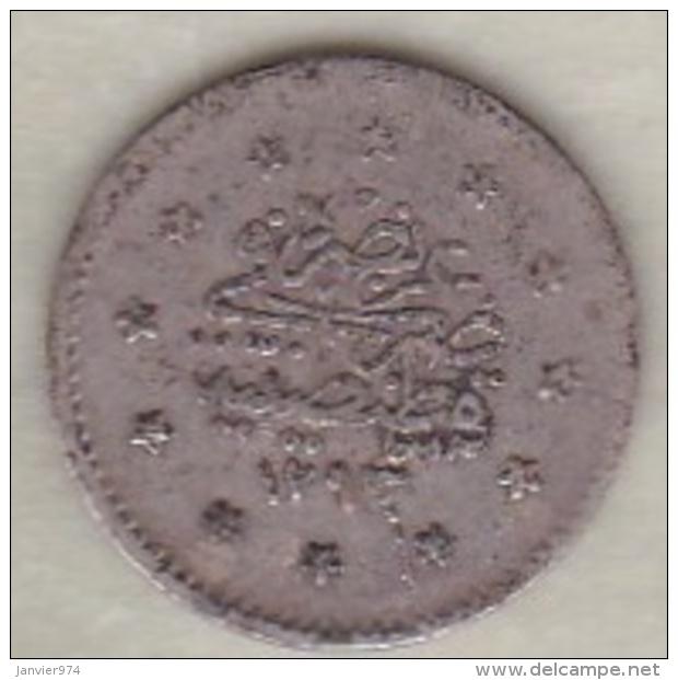 Turquie , 1 Kurush AH 1293 Year 11 Abdul Hamid II, En Argent ,KM# 735 - Turquie