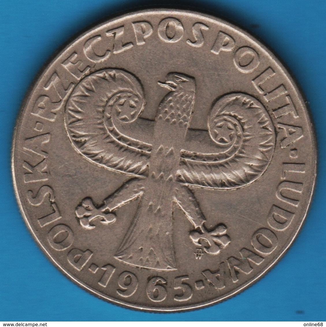 POLAND 10 ZLOTYCH 1965KM# 55 Colonne Sigismond III - Poland