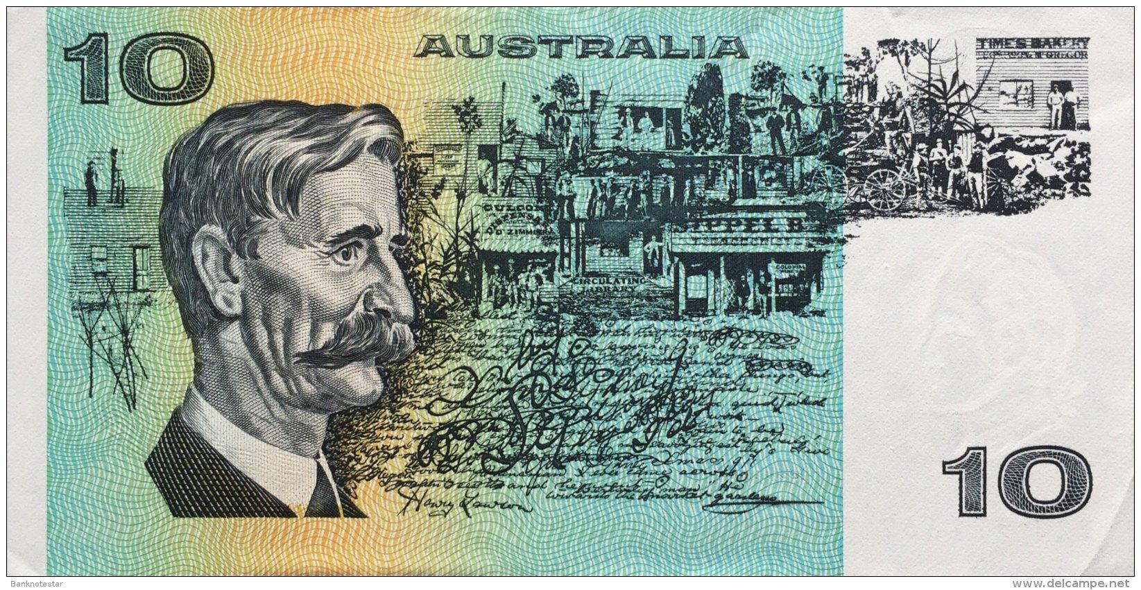 Australia 10 Dollars, P-45d (1983) XF/VF - 1974-94 Australia Reserve Bank (paper Notes)