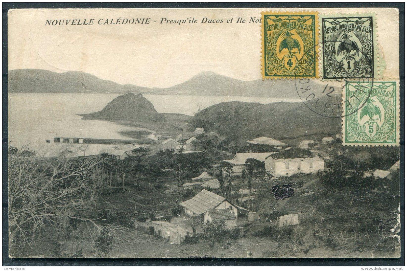 1912 New Caledonia Postcard, Yokohama Maseille Paquebot - Paris. Ship NERA - Neukaledonien