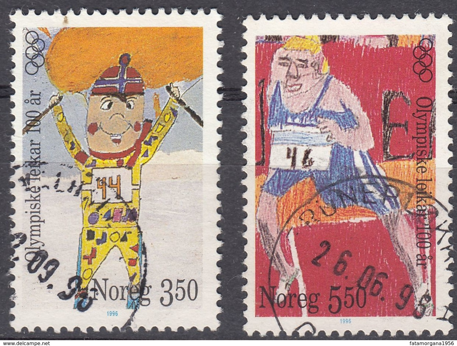 NORGE - 1996 - Serie Completa Di 2 Valori Usati: Yvert 1166/1167, Come Da Immagine. - Gebraucht