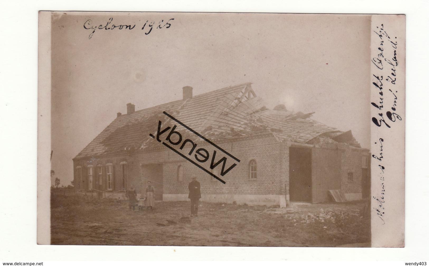 Oventje - Gemeente Zeeland - Molenaarshuis Originele Foto - Cycloon 1925 - Pays-Bas