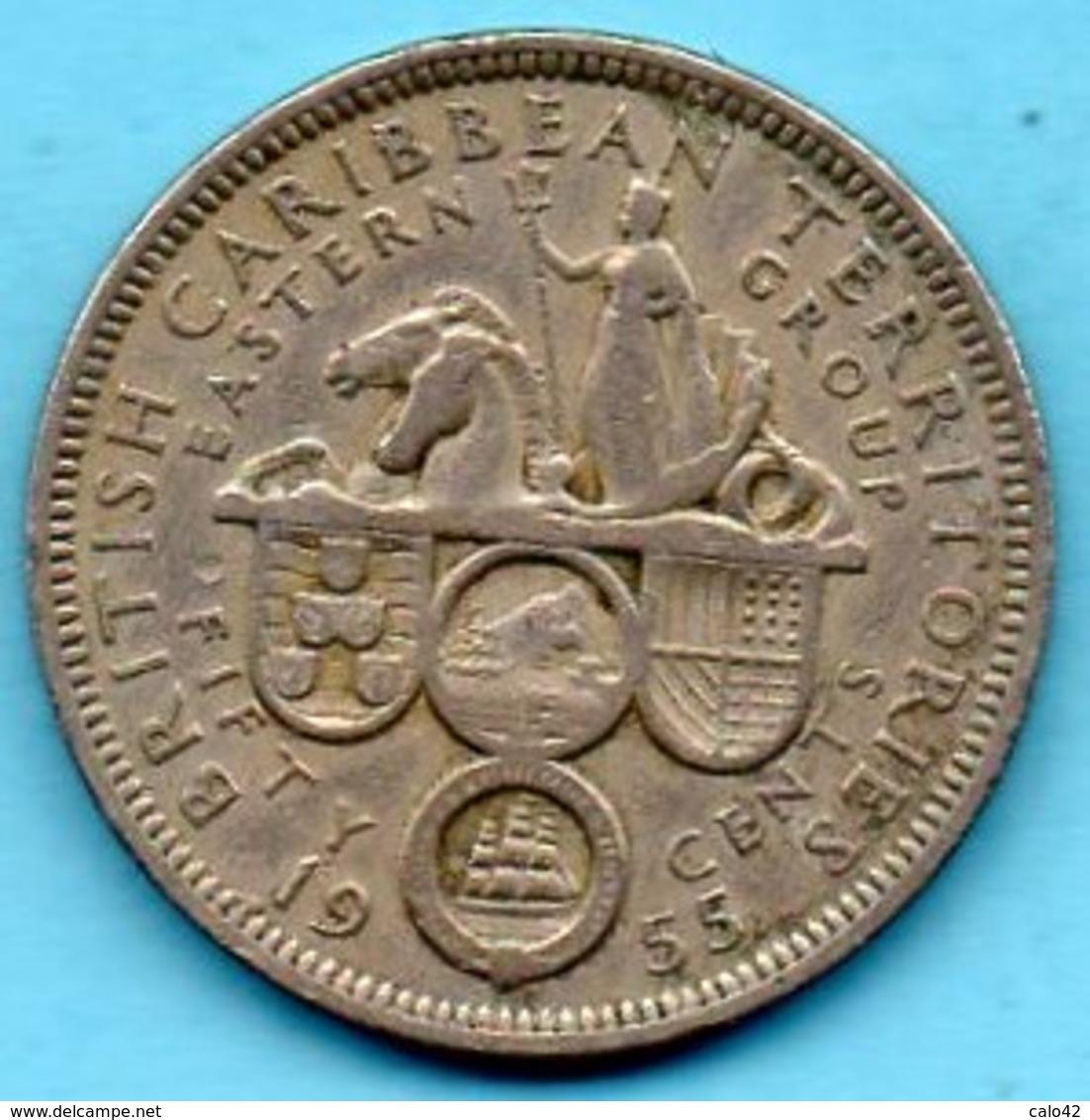 (r65)  BRITISH EAST CARIBBEAN / 50 CENTS 1955 - Caraïbes Orientales (Etats Des)