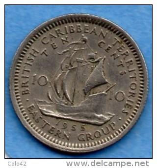 (r65)  BRITISH CARIBBEAN / CARAIBES BRITANNIQUES 10 CENTS 1955 - Caraïbes Orientales (Etats Des)