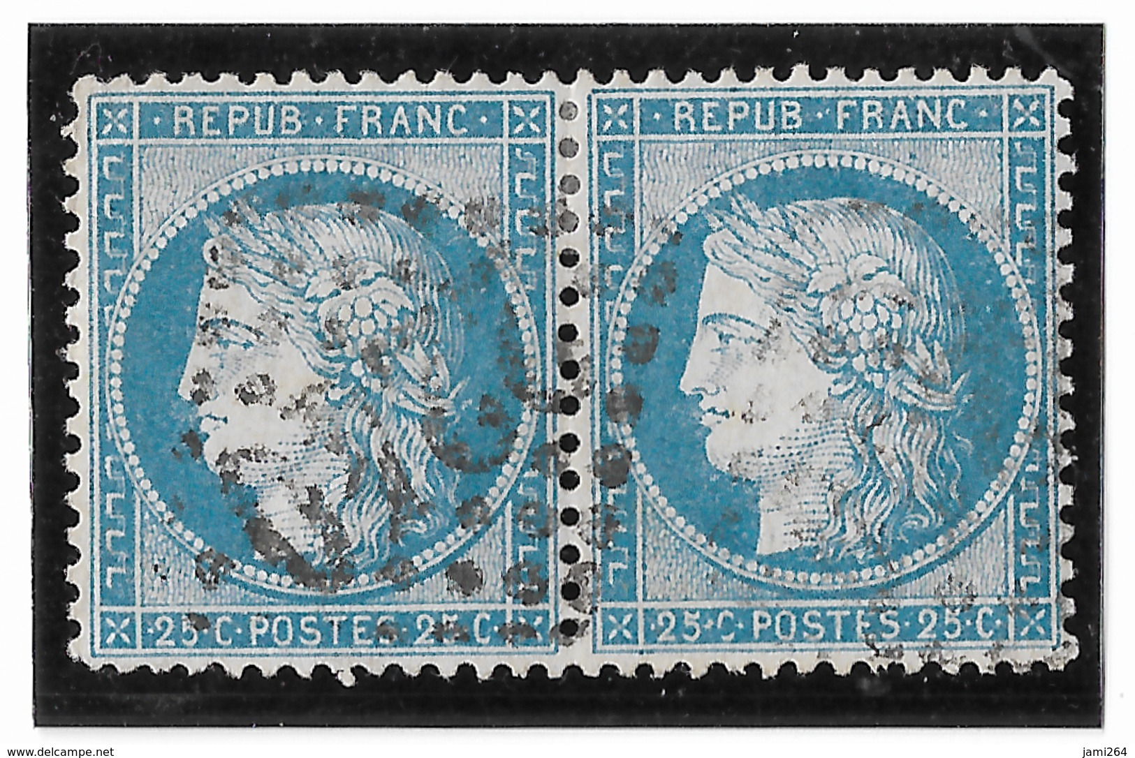 TIMBRES N°60/1   PAIRE 118/119 D3; TRÉS BIEN CENTRÉS  TTB - 1871-1875 Cérès