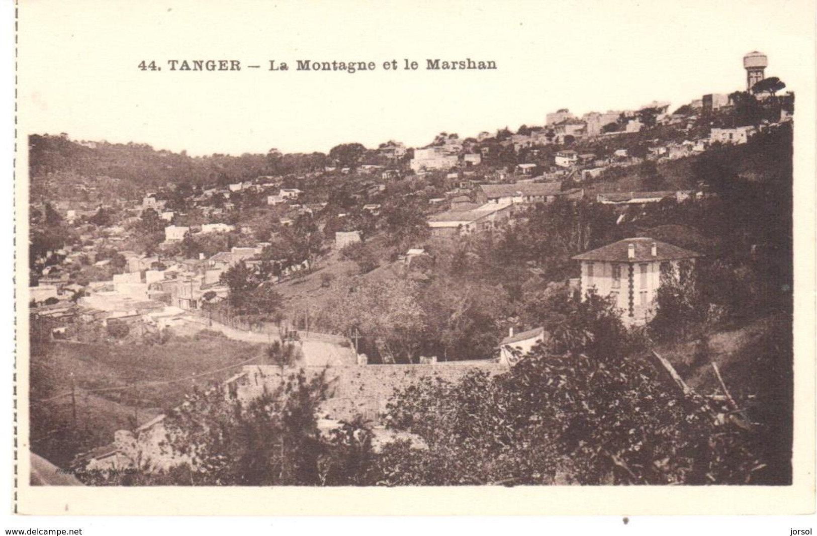 POSTAL   TANGER  -MARRUECOS  - LE MONTAGNE ET LE MARSHAN  (LA MONTAÑA Y MARSHAN) - Tanger