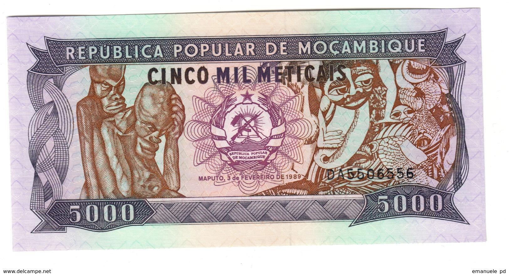 Mozambique 5000 Meticais 03/02/1989 UNC .C2. - Mozambico