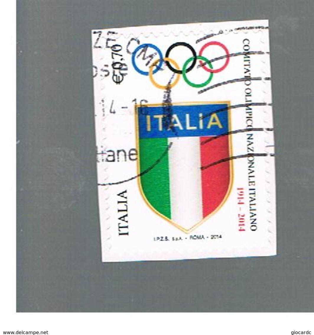 ITALIA REPUBBLICA  -   2014   -  CONI      USATO  ° - 6. 1946-.. Repubblica