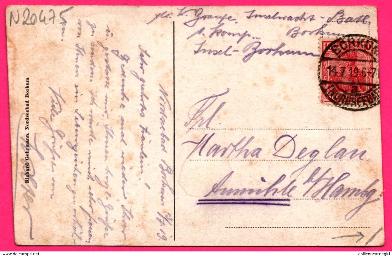 Borkum - Musikpavillon - Kiosque - Animée - RICHARD GEHRMANN - 1919 - Colorisée - Borkum