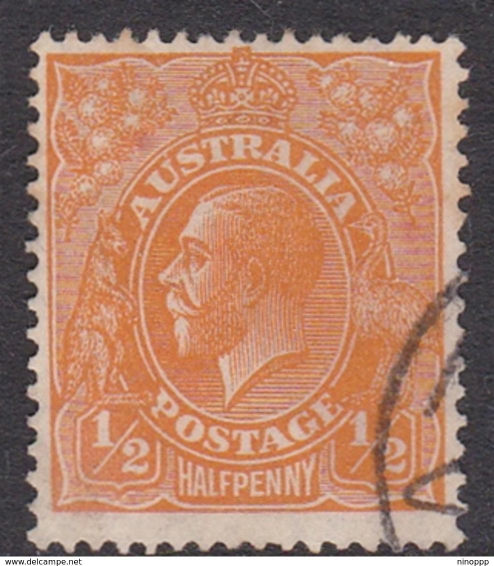 Australia SG 124 1933 King George V,half Penny Orange, C Of A Watermark, Used - 1913-36 George V: Heads