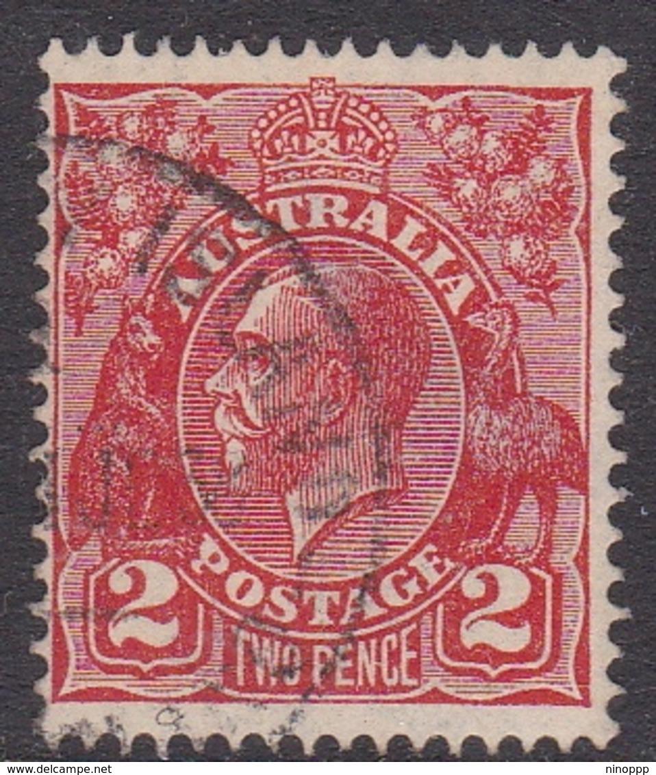 Australia SG 127w 1926 King George V,2d Red,inverted Watermark, Used - 1913-36 George V: Heads