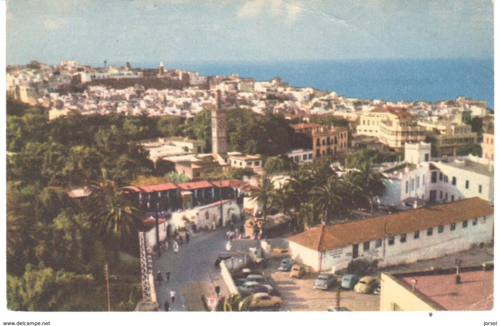 POSTAL   TANGER  -MARRUECOS   -VUE DE L'ANCIENNE MEDINA PRISE DE L`HOTEL VILLA DE FRANCE  ( VISTA DE LA ANTIGUA MEDINA ) - Tanger