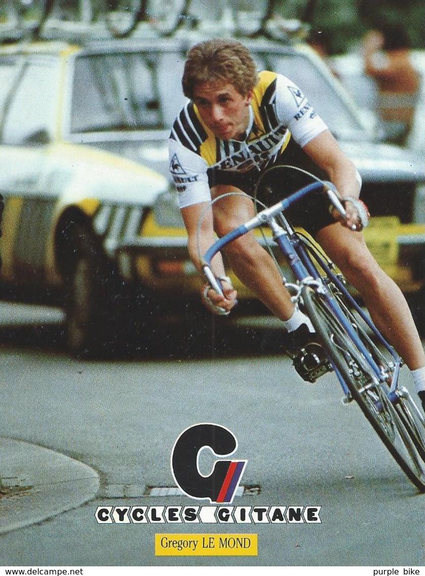 GREG GREGORY LEMOND CYCLES GITANE + PALMARES AU DOS CPM    TTBE Etat - Cycling
