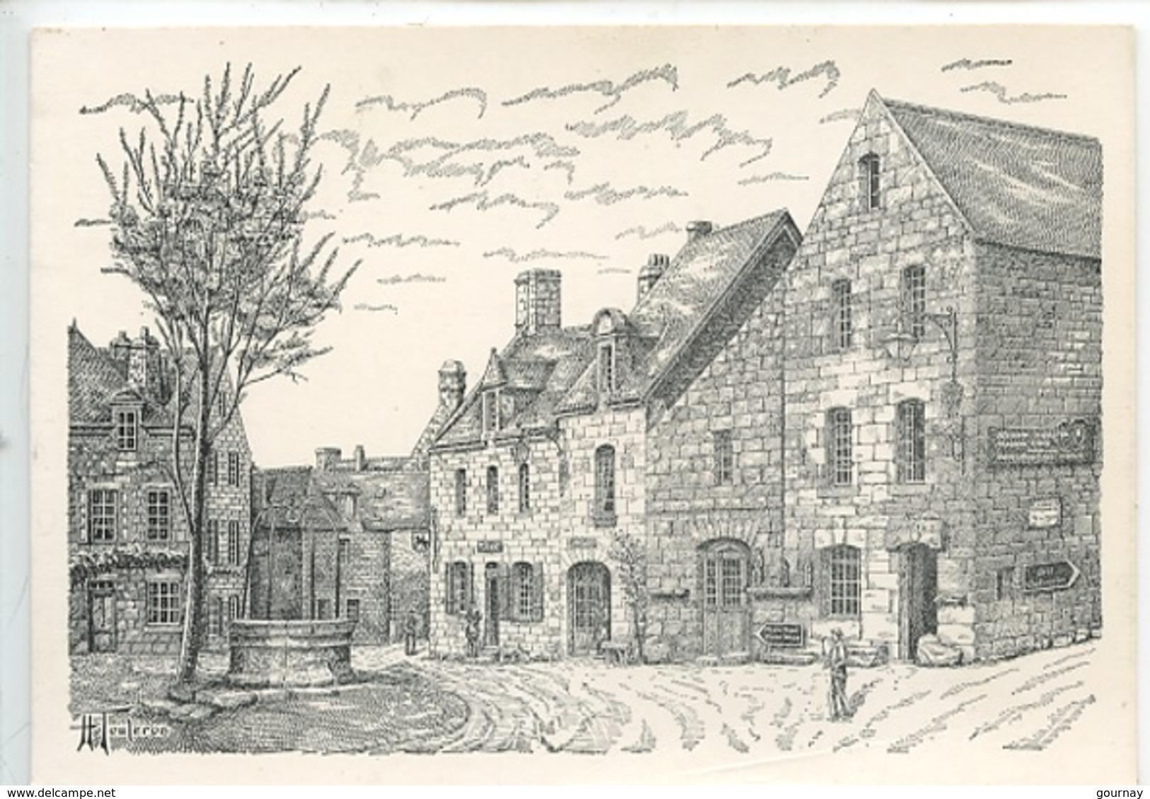 Locronan : Maisons Renaissance Par H. Touleron (gravure Dessin) - Locronan