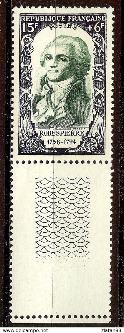 TIMBRE ROBESPIERRE YT N°871 NEUF Avec GOMME** + BDF - France