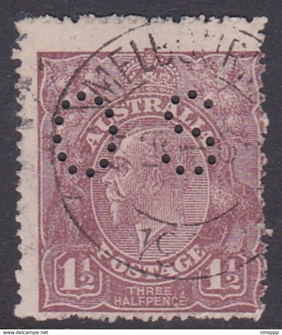 Australia SG O65 1918 King George V,three Half Penny Red Brown,perforated Small OS, Used - Used Stamps