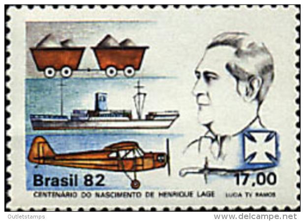 Ref. 57792 * NEW *  - BRAZIL . 1982. CENTENARY OF THE BIRTH OF ENRIQUE LAGE. CENTENARIO DEL NACIMIENTO DE ENRIQUE LAGE - Brazil