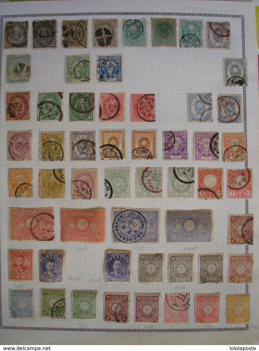 JAPON - Collection D'anciens Neufs * Et Oblitérés - Grosses Valeurs ( Série 128/144 *,etc...) 5 Photos Très Grosse Cote - Japan