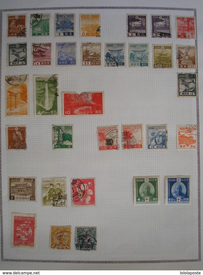 JAPON - Collection D'anciens Neufs * Et Oblitérés - Grosses Valeurs ( Série 128/144 *,etc...) 5 Photos Très Grosse Cote - Collections, Lots & Series
