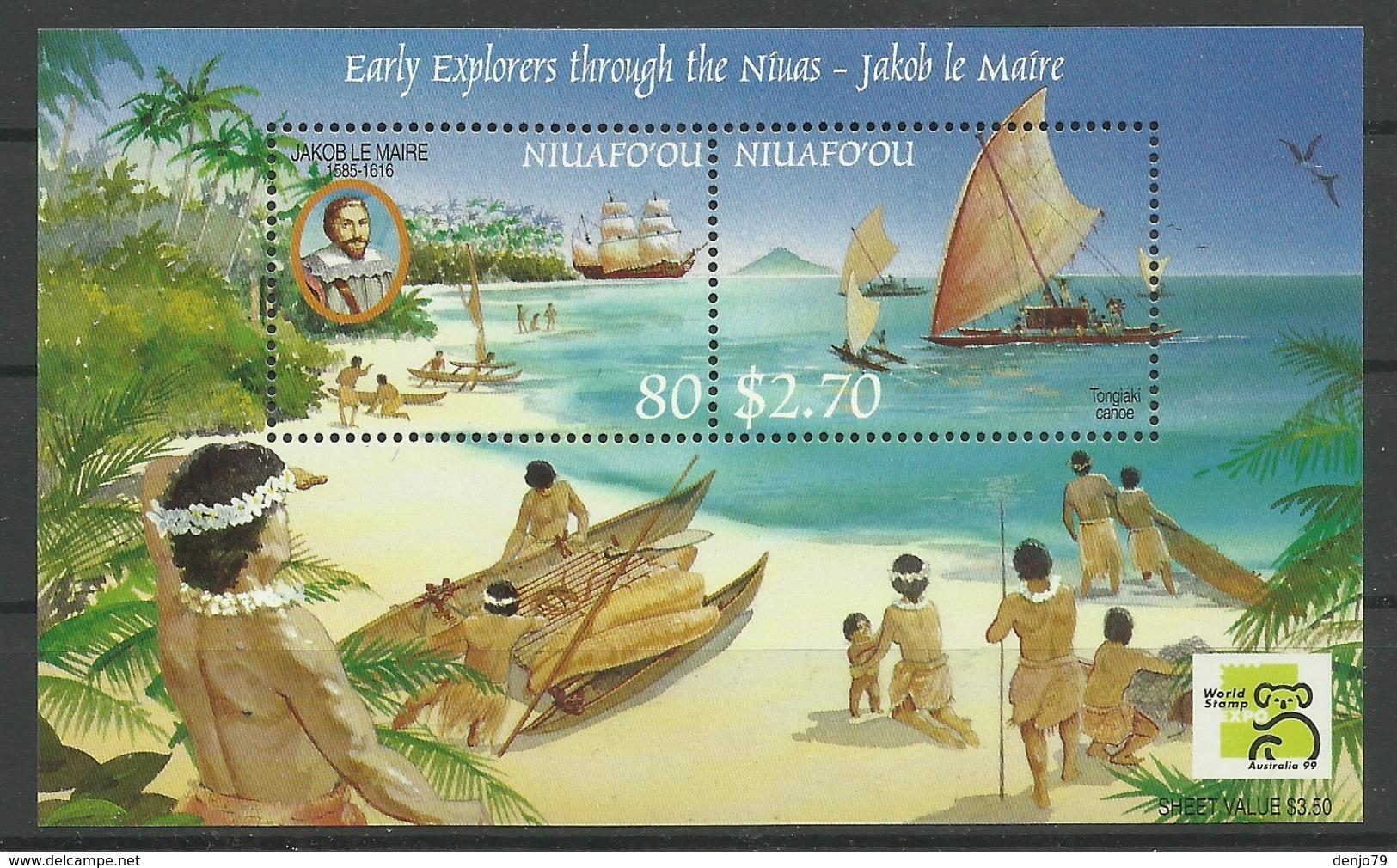 NIUAFO'OU 1999 EARLY EXPLORERS MNH - Postzegels