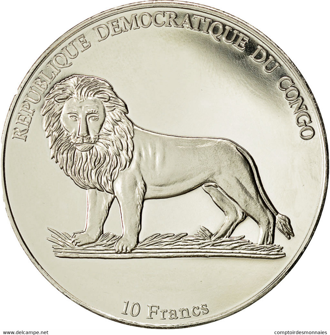 Monnaie, CONGO, DEMOCRATIC REPUBLIC, 10 Francs, 2002, FDC, Copper-nickel, KM:194 - Congo (República Democrática 1998)