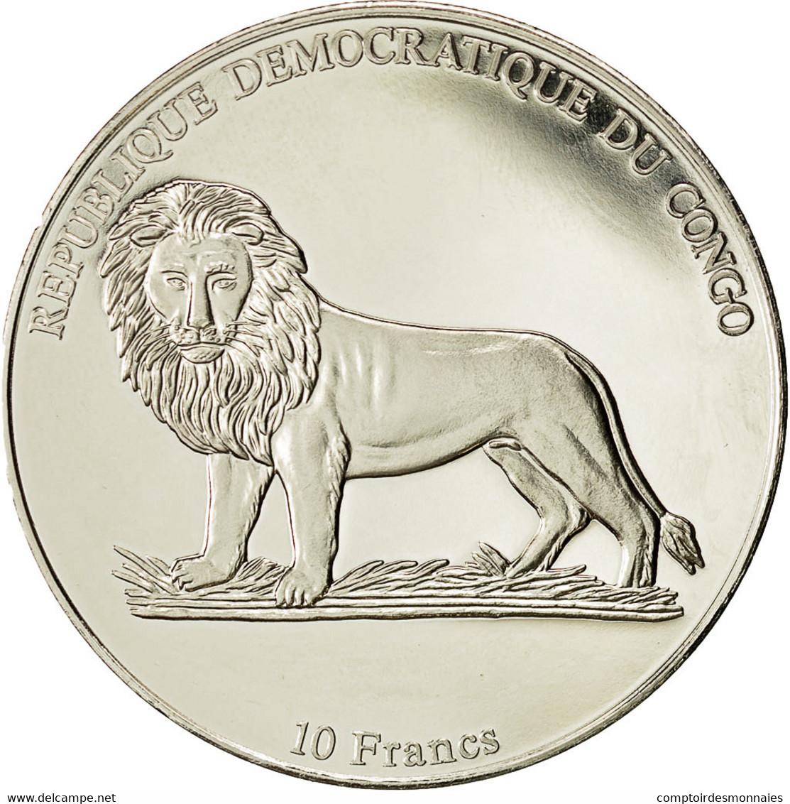 Monnaie, CONGO, DEMOCRATIC REPUBLIC, 10 Francs, 2002, FDC, Copper-nickel, KM:194 - Kongo (Dem. Republik 1998)
