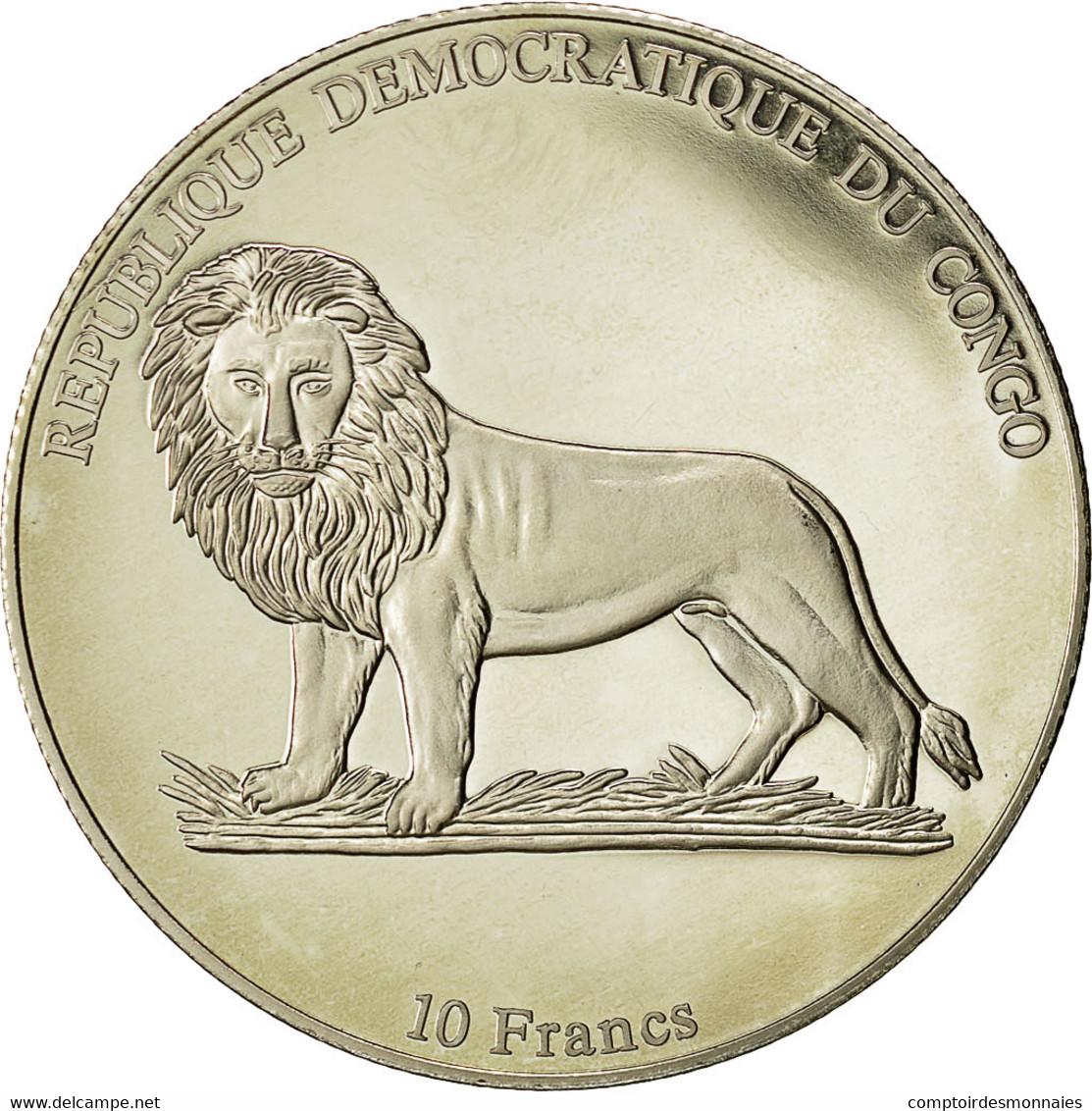 Monnaie, CONGO, DEMOCRATIC REPUBLIC, 10 Francs, 2002, FDC, Copper-nickel, KM:191 - Congo (République Démocratique 1998)