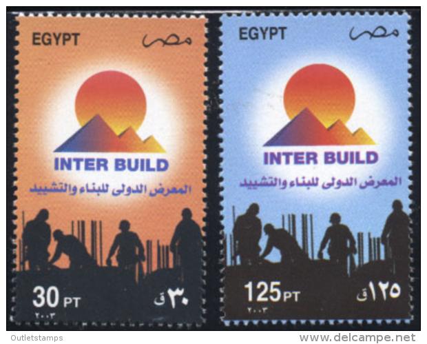 Ref. 136200 * NEW *  - EGYPT . 2003. 10 CONFERENCIA INTERNACIONAL DE LA CONSTRUCCION - Unused Stamps