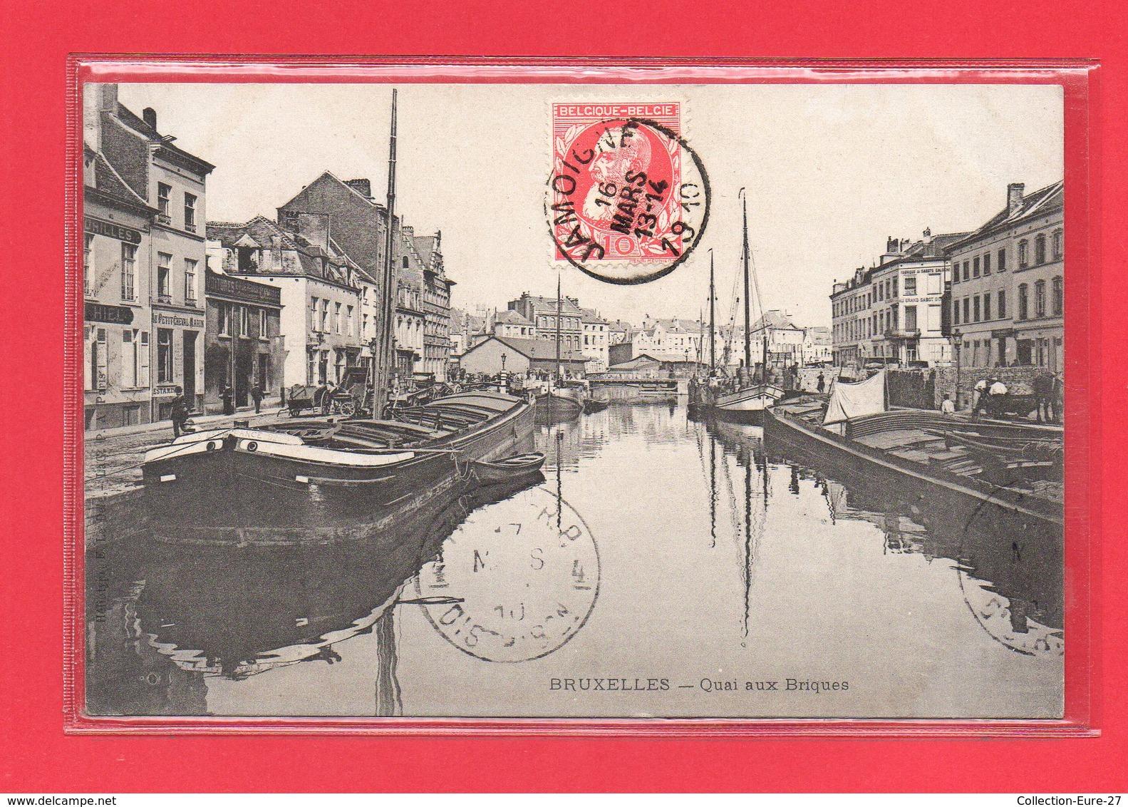 BELGIQUE-CPA BRUXELLES - QUAI AUX BRIQUES - Transport (sea) - Harbour