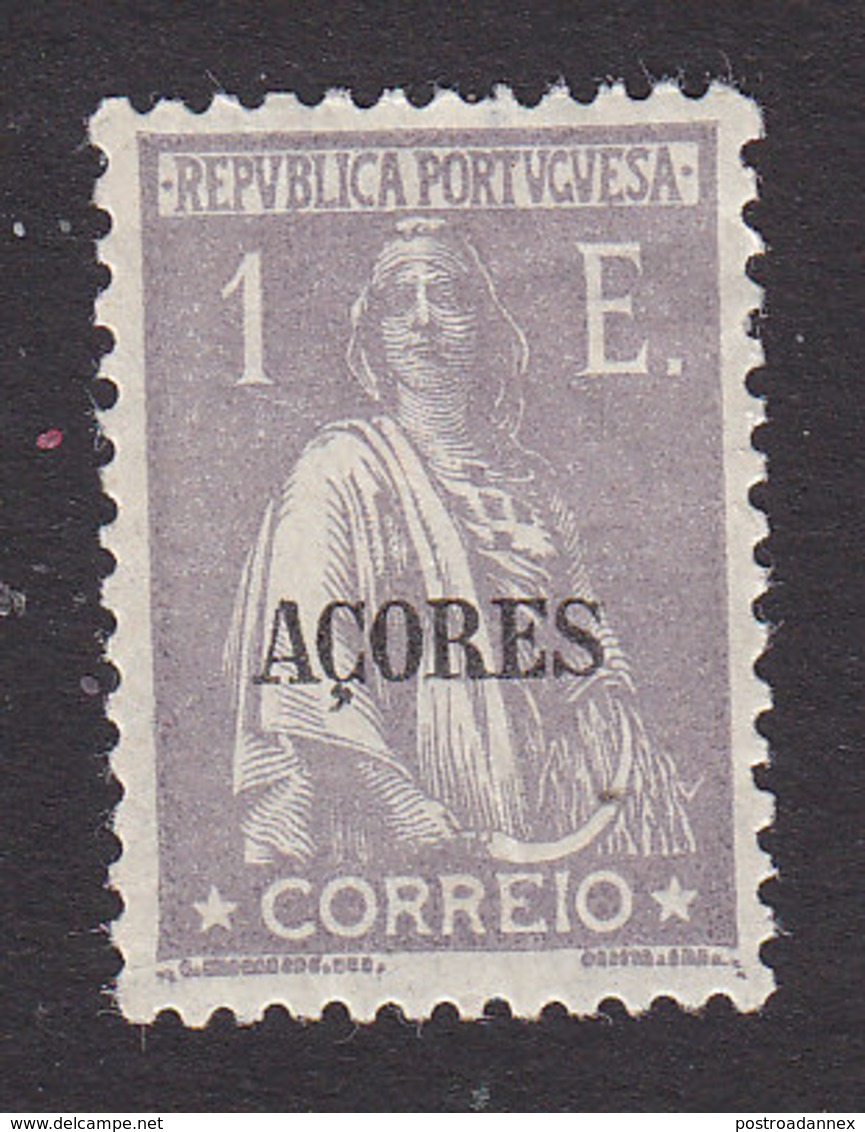 Azores, Scott #221, Mint Hinged, Ceres Overprinted, Issued 1912 - Azoren