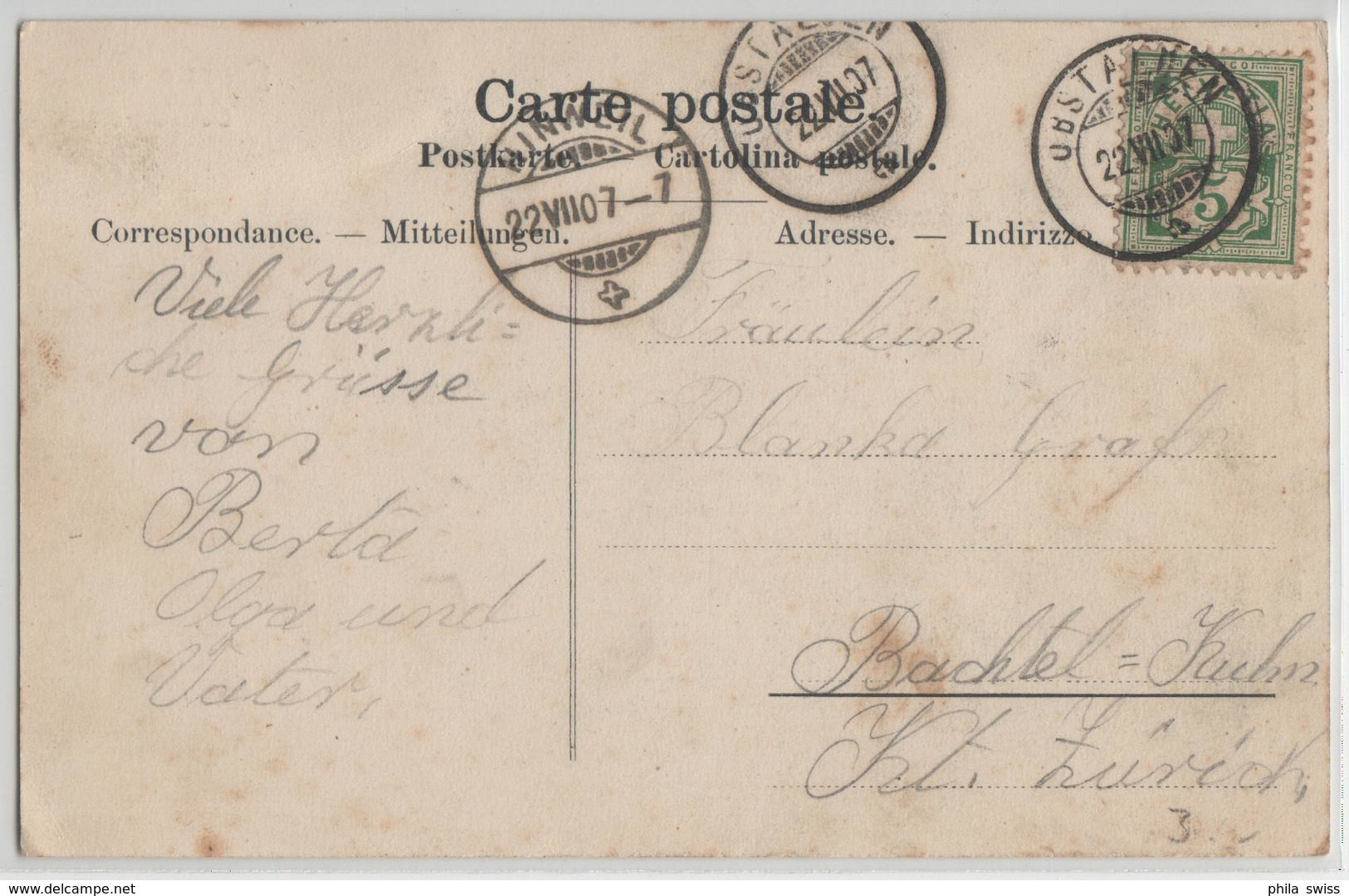 Gruss Aus Obstalden - Photo: Chr. Tischhauser - GL Glaris