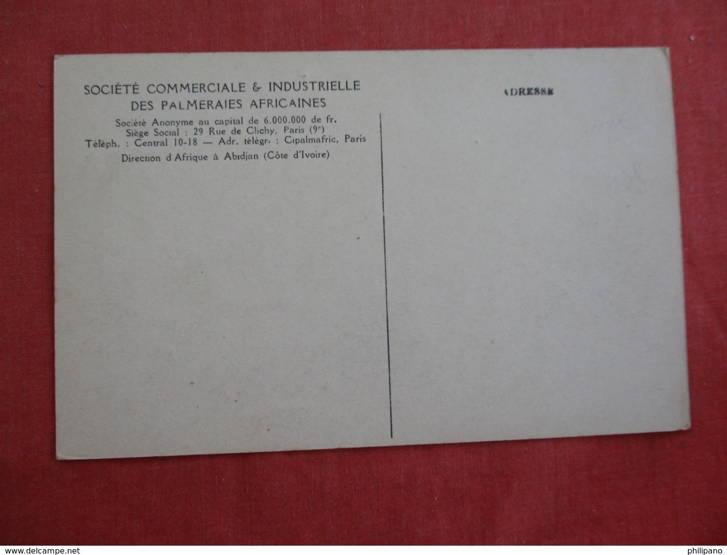 Societe Commerciale & Industrille Des Palmeraies Africaines  Paris    Ref 3005 - Frankreich