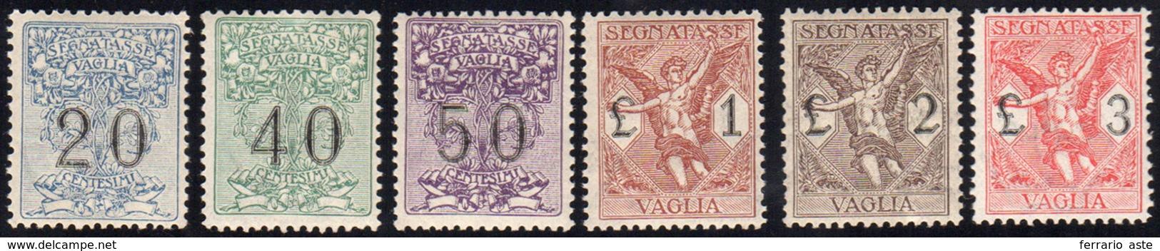 1321 1924 - Segnatasse Vaglia, Serie Completa (1/6), Ottima Centratura, Gomma Integra, Perfetti. Belli! C... - Italy