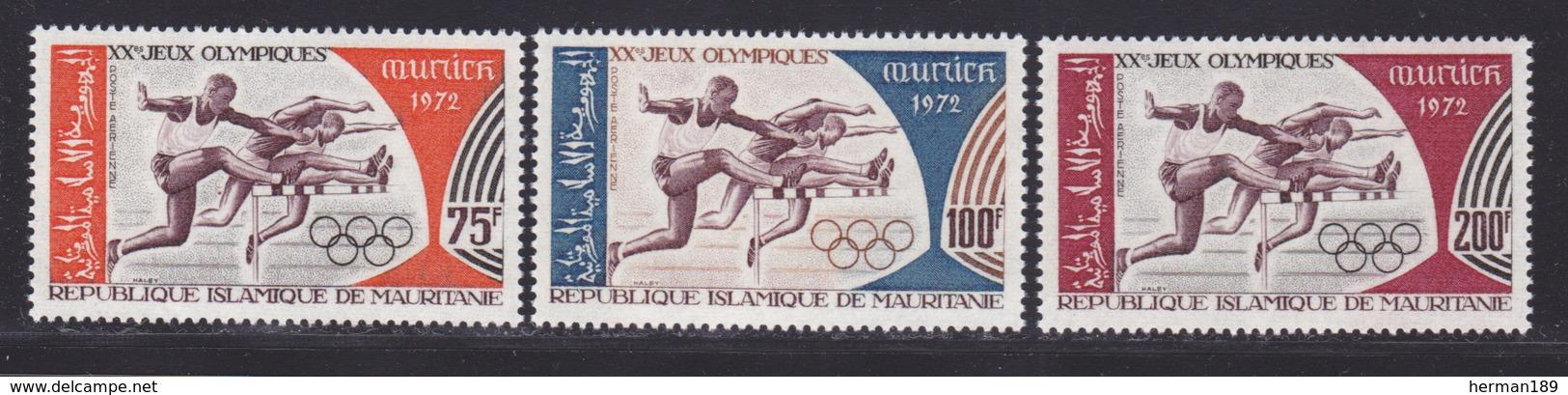 MAURITANIE AERIENS N°  123 à 125 ** MNH Neufs Sans Charnière, TB (D7392) Jeux Olympiques De Munich, Sports - Mauritania (1960-...)
