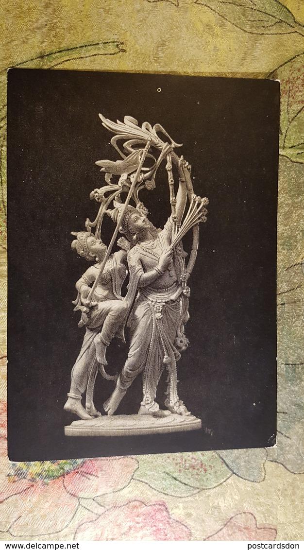 Indian Art - OLD USSR Postcard -1956  - ARCHERY - Archer - Tir à L'Arc