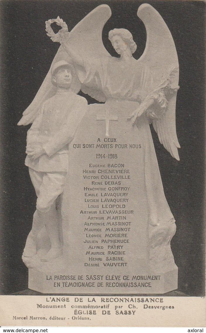 SASSY 14 ANGE DE LA RECONNAISSANCE 1914-1918 HOMMAGE - Other Municipalities