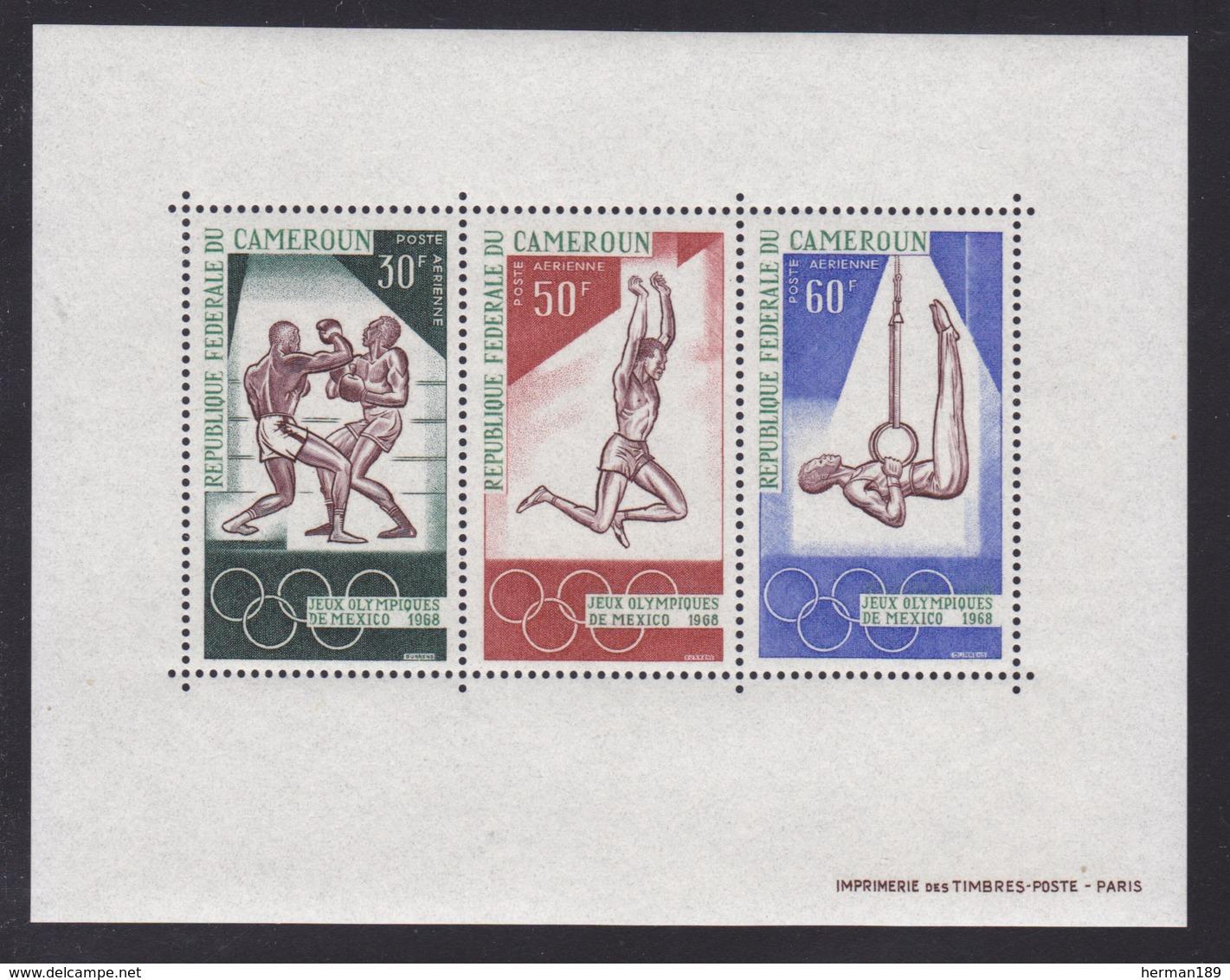 CAMEROUN BLOC N°    4 ** MNH Neuf Sans Charnière, TB (CLR350) Sports, Jeux Olympiques De Mexico - Cameroon (1960-...)