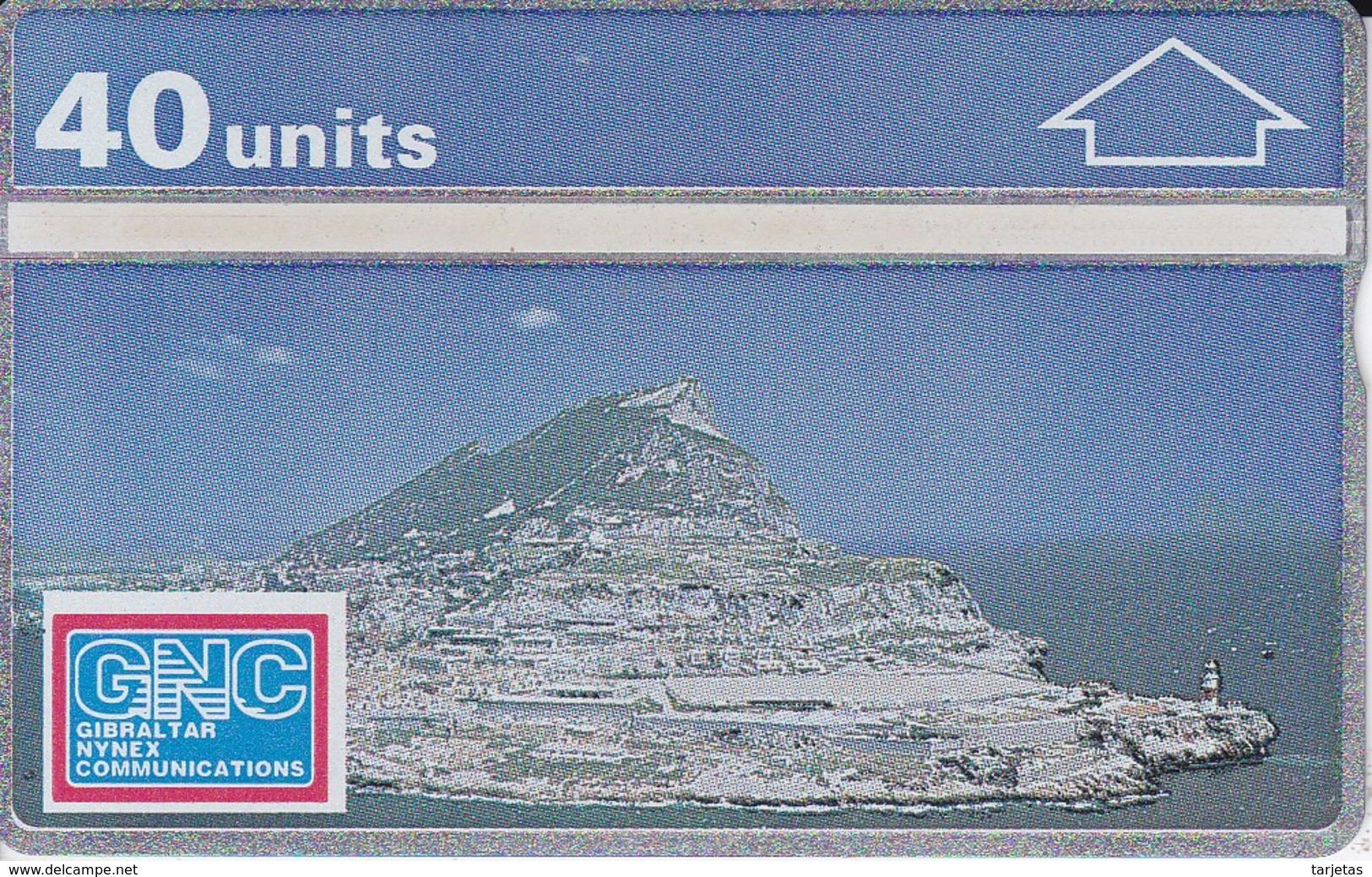 5 TARJETA DE GIBRALTAR DE UNA VISTA AEREA DEL PEÑON (NUEVA-MINT) - Gibraltar