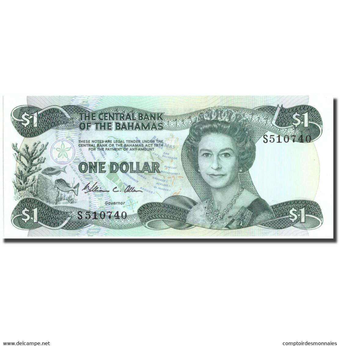 Billet, Bahamas, 1 Dollar, 1974, 1974, KM:43a, NEUF - Bahamas