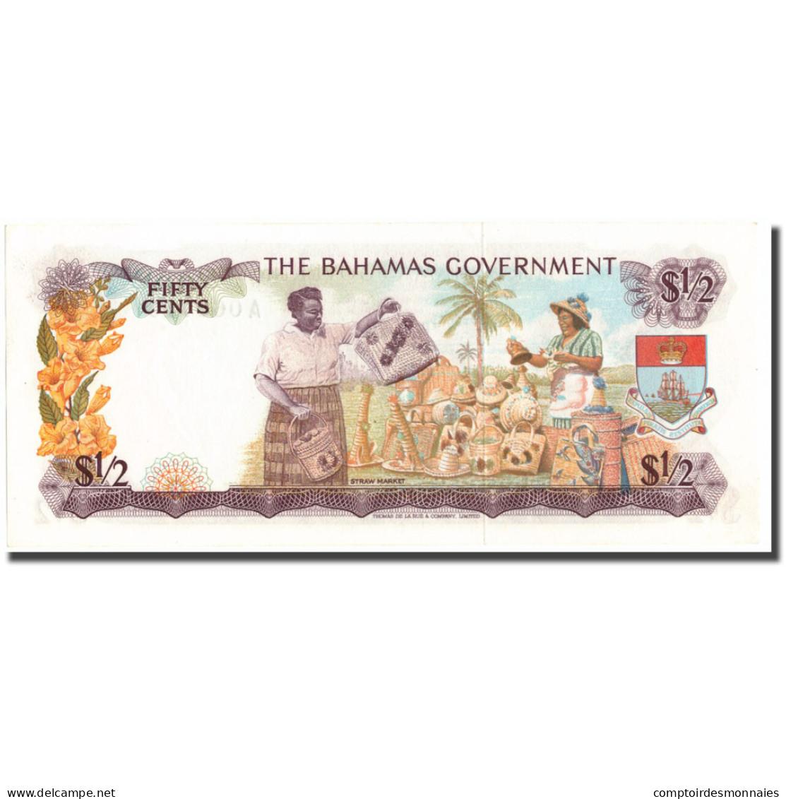 Billet, Bahamas, 1/2 Dollar, KM:17a, SUP+ - Bahamas
