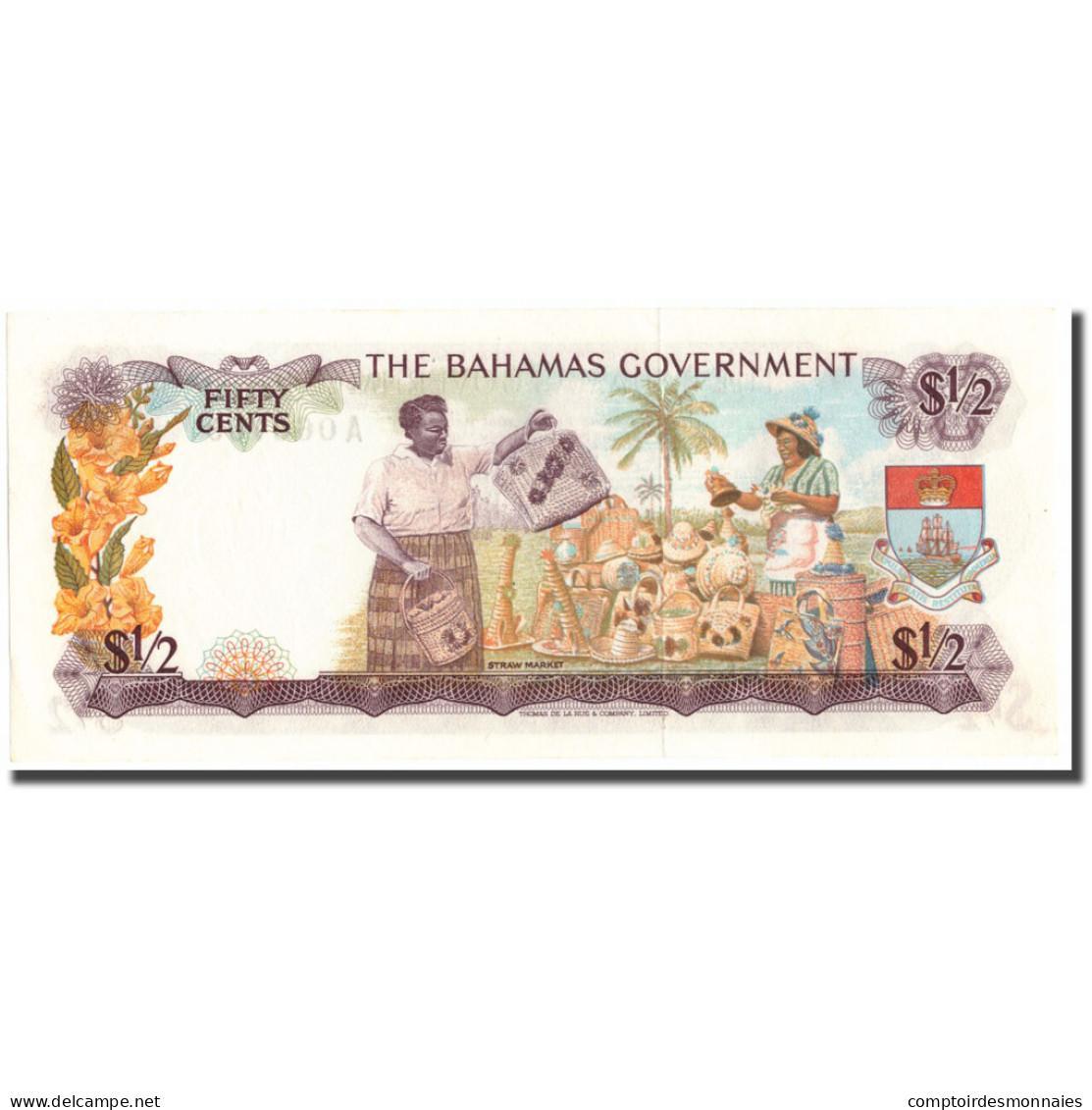 Billet, Bahamas, 1/2 Dollar, KM:17a, SPL - Bahamas