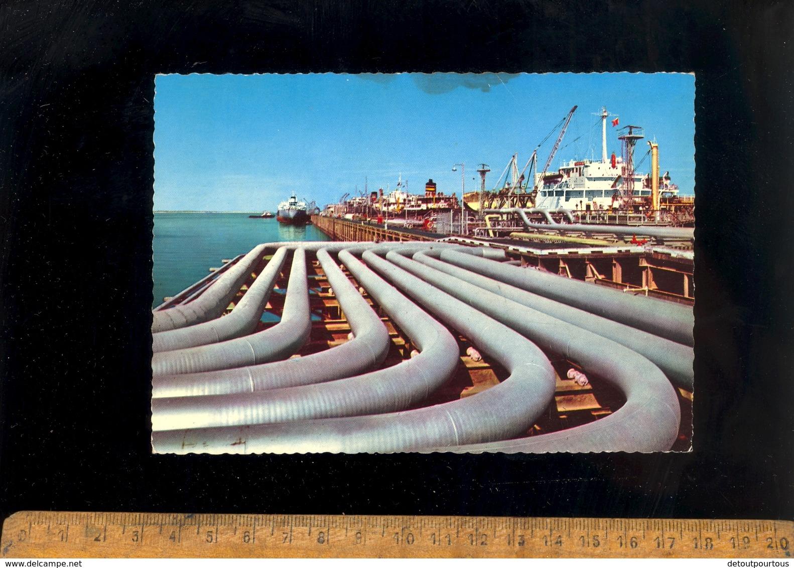 AHMADI Kuwait Koweit : Oil Pipe Lines Harbour Maritime Vessel Ship Bateaux Cargo Port Hafen Schiff - Koweït