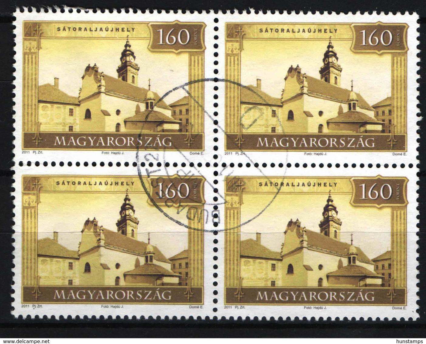 MODERN - USED !!! Hungary 2011. Satoraljaujhely Castle, 4-block (high Face Value) Used - Hongrie