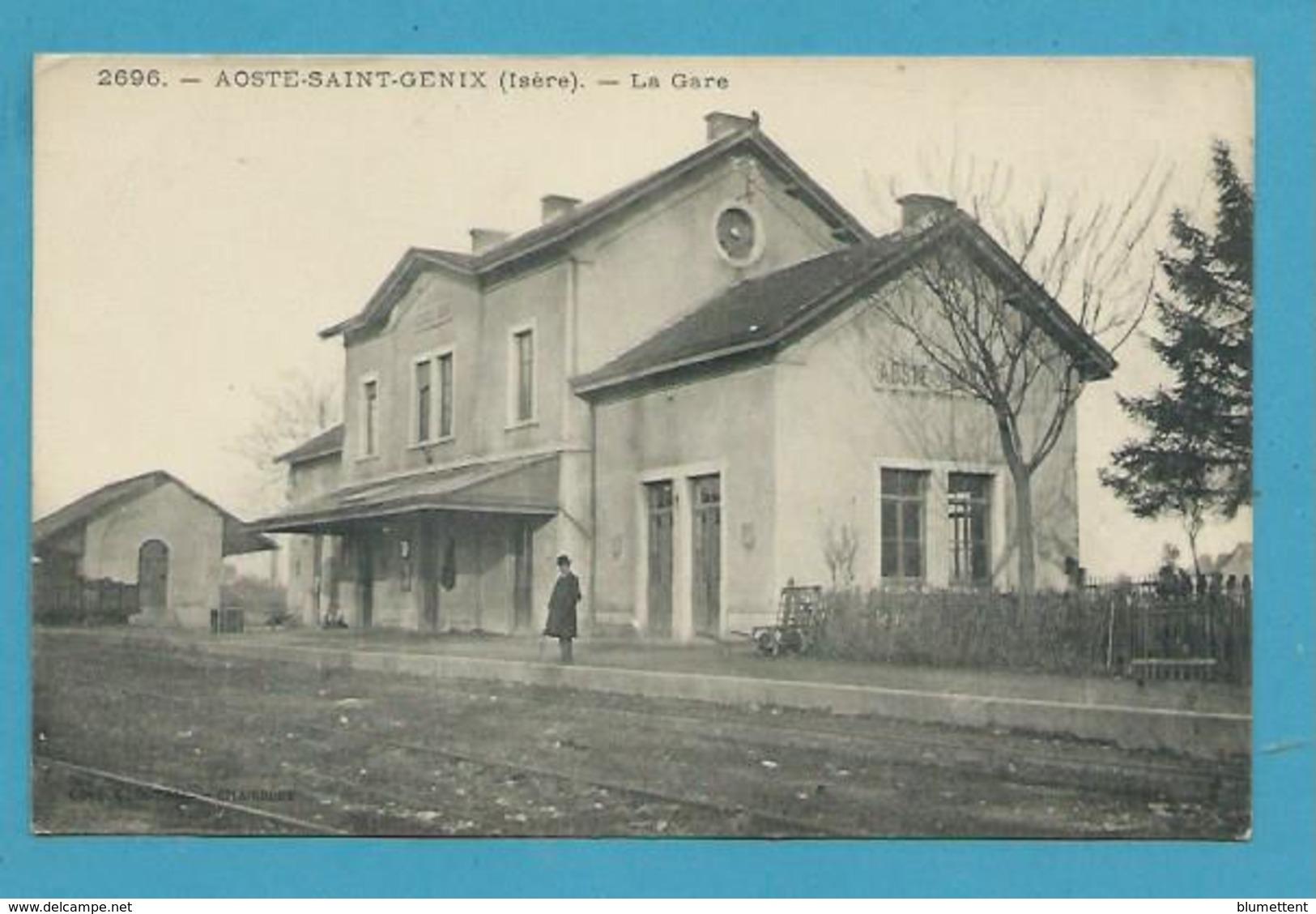 CPA Chemin De Fer La Gare Fermée Depuis 1957 AOSTE-SAINT-GENIX 38 - Autres Communes