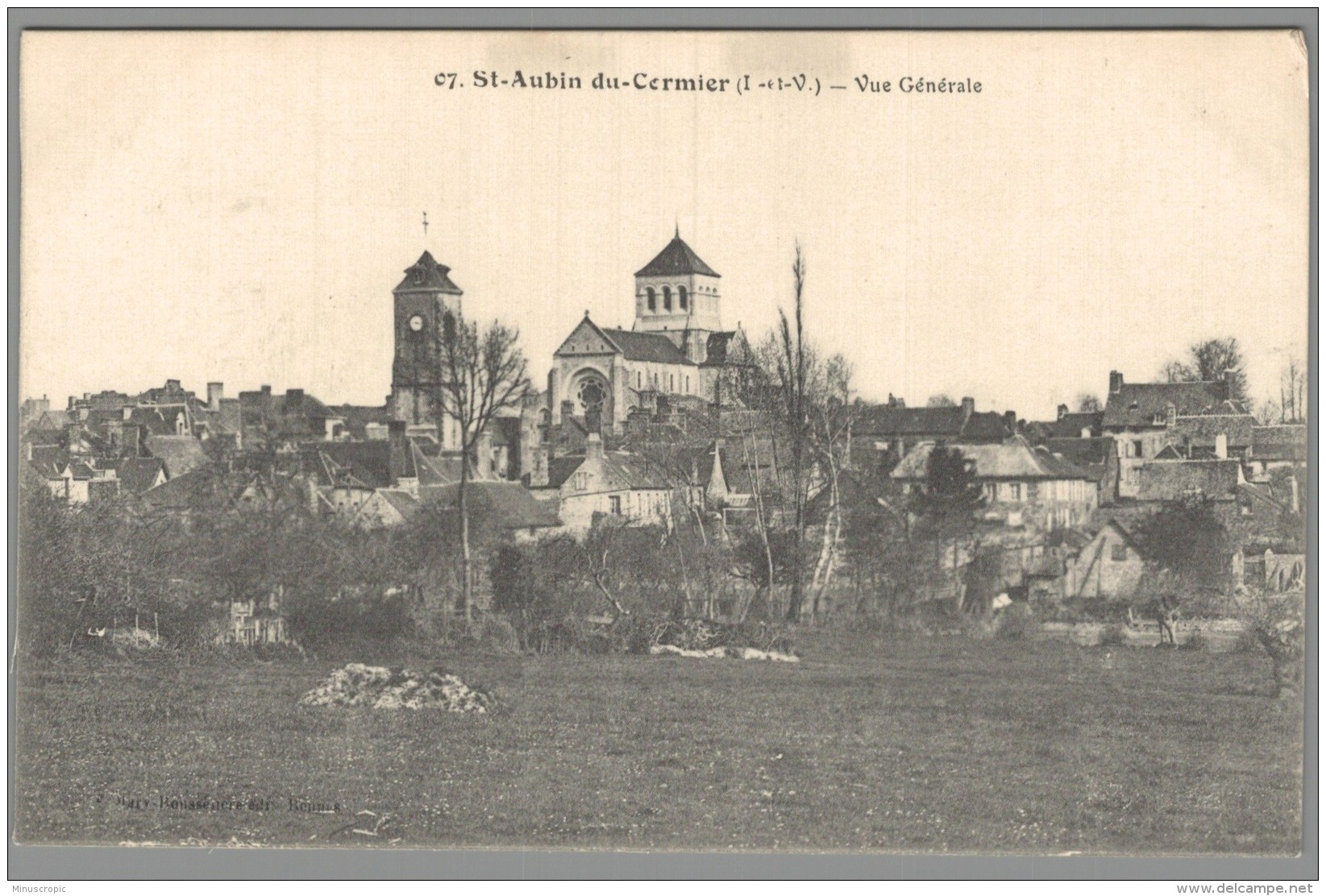 CPA 35 - Saint Aubin Du Cormier - Vue Générale - Unclassified
