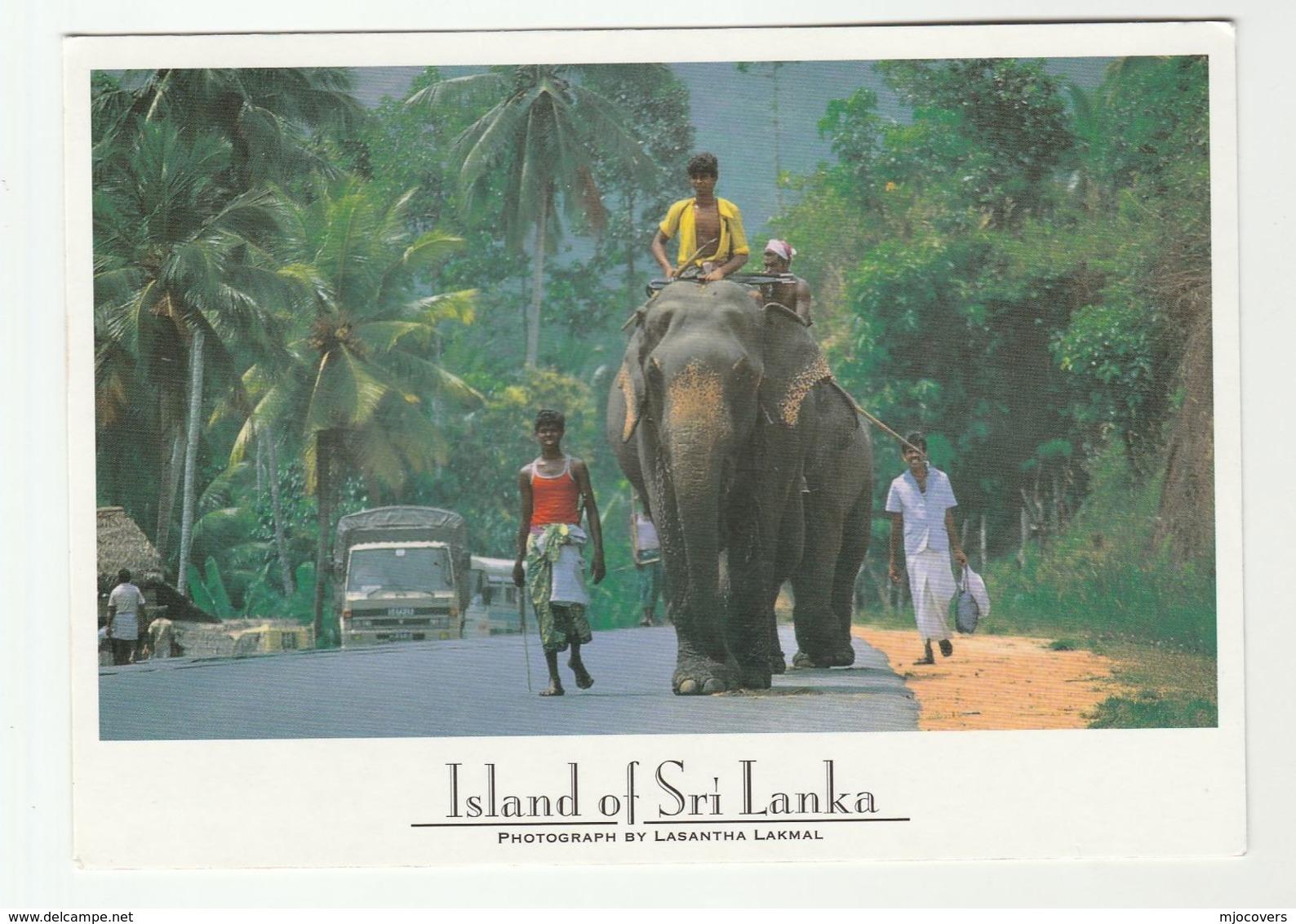 2015 SRI LANKA COVER Stamps JUPITER Planet (postcard ELEPHANT) Space Astronomy - Astronomy