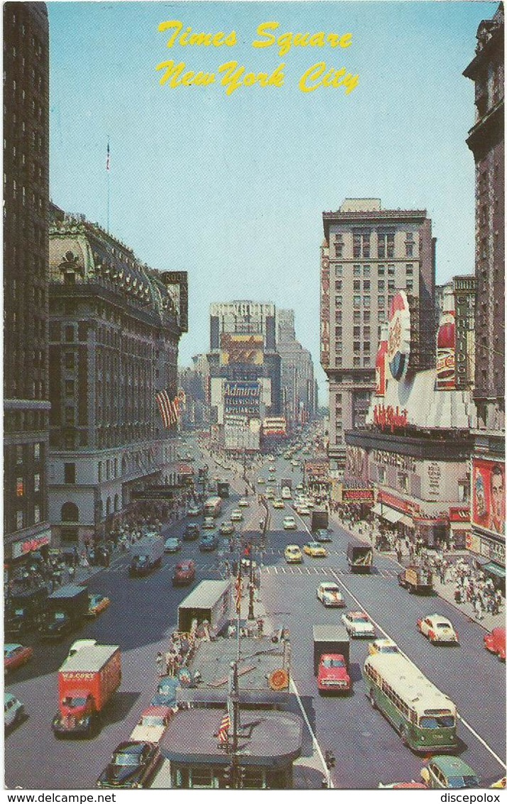 X3136 New York - Time Square - Auto Cars Voitures Bus Autobus / Non Viaggiata - Time Square