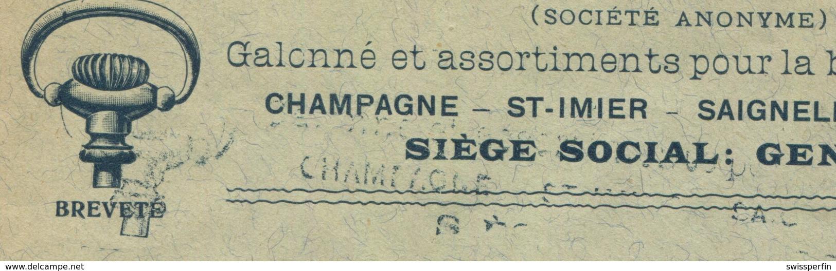 1920 - 25 Rp. Helvetia Mit Schwert Auf Illustriertem Auslandbeleg Mit Doppelprägung Der Briefillustration - Schweiz