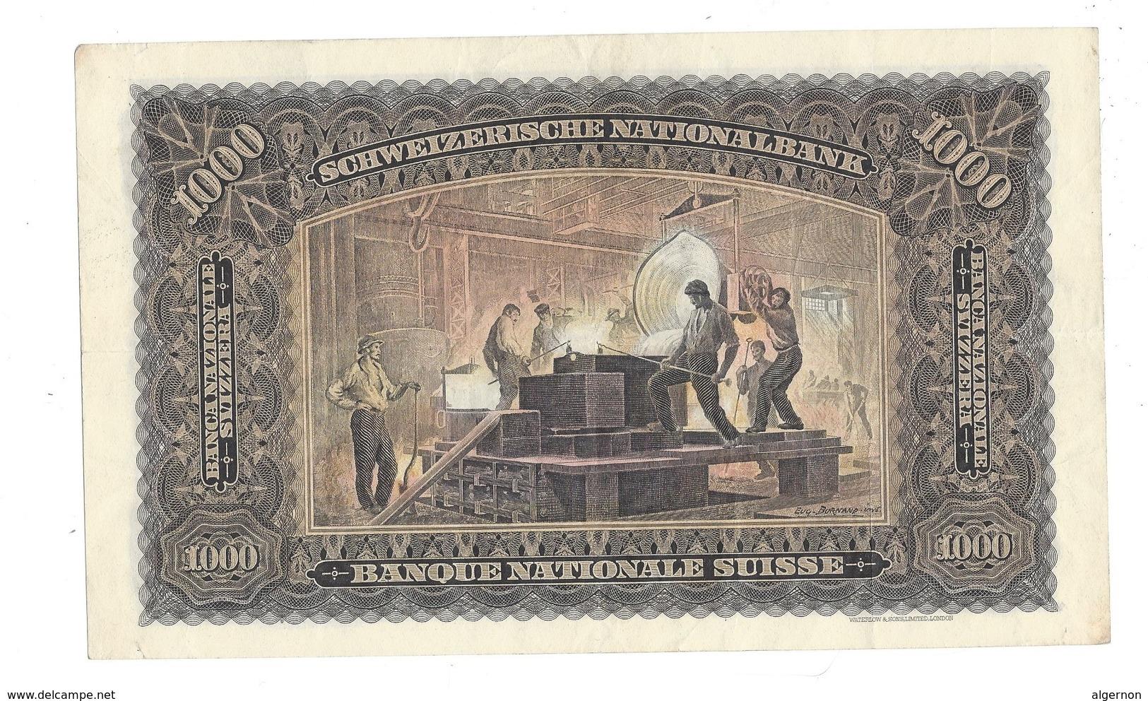 006 -  1000 CHF 2ème émission 07.09.1939 Etat Très Bon Signature RO No 1M 79855 - Suisse