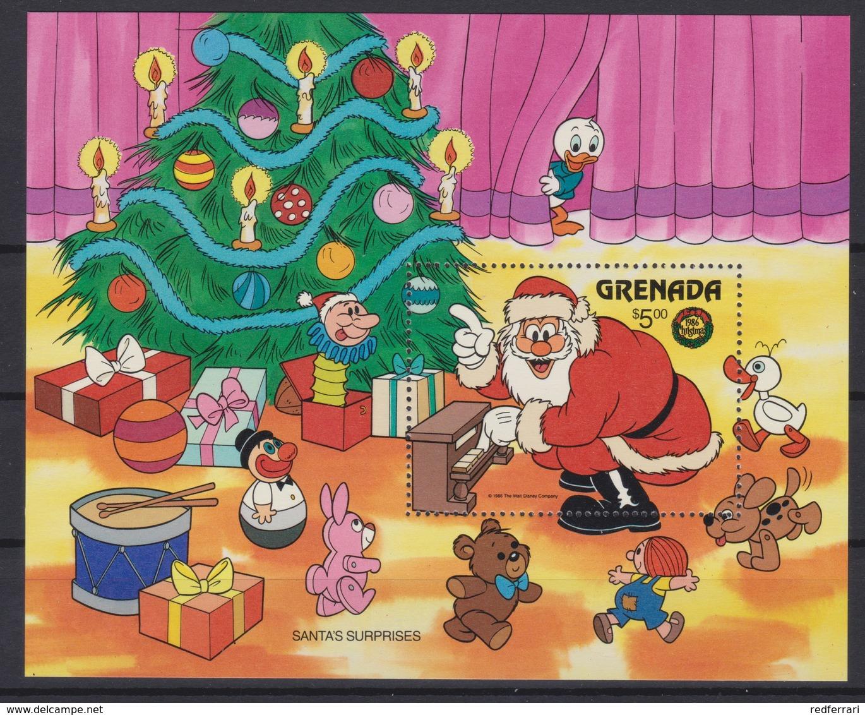 2227  WALT DISNEY - GRANADA ( Christmas 1986 ) Santa's Surprises . - Disney